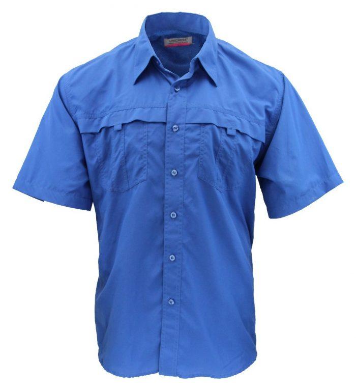 Camisa estilo columbia azul