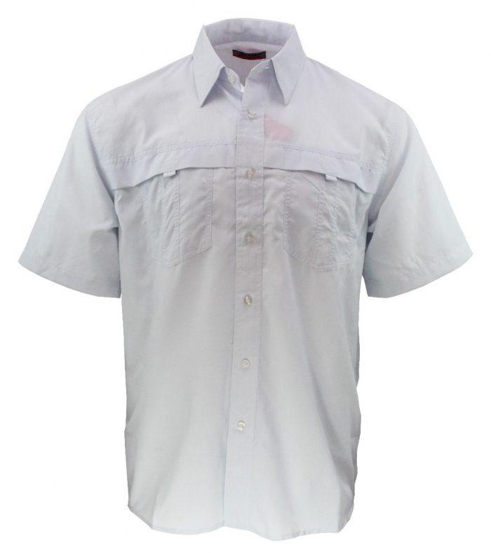 Camisa estilo columbia blanca