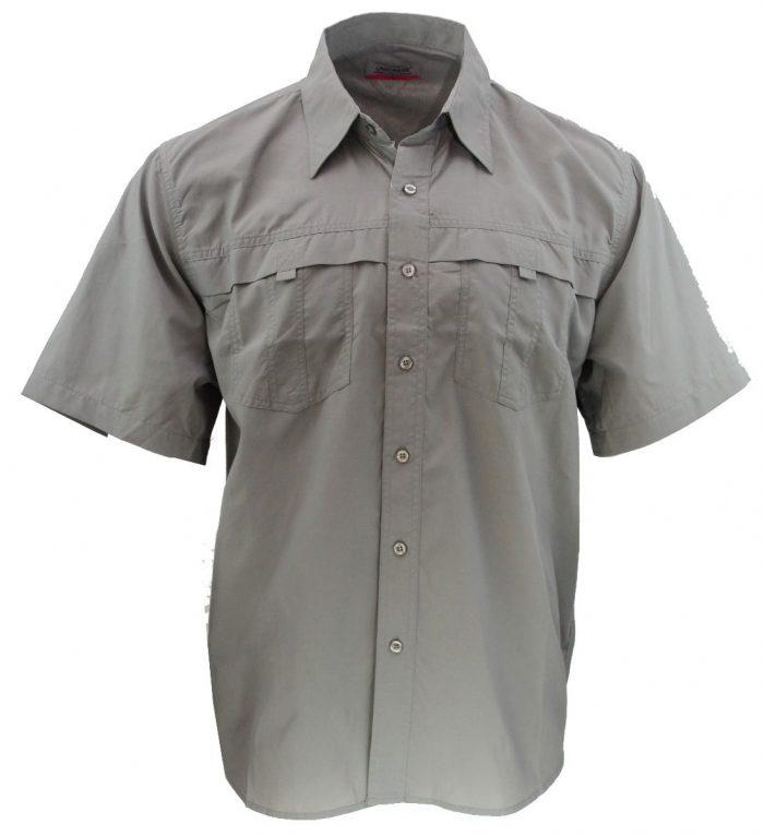 Camisa estilo columbia gris