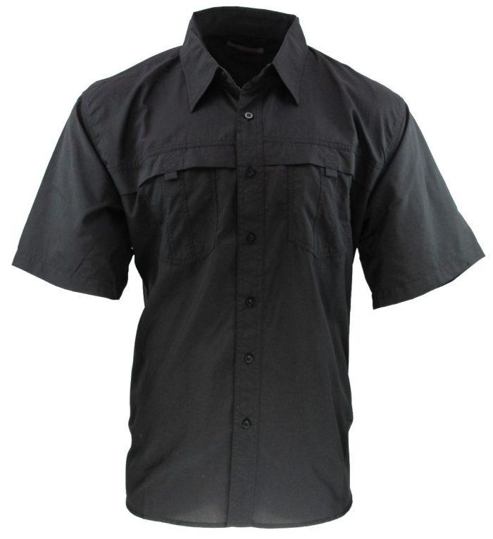 camisa estilo columbia negra