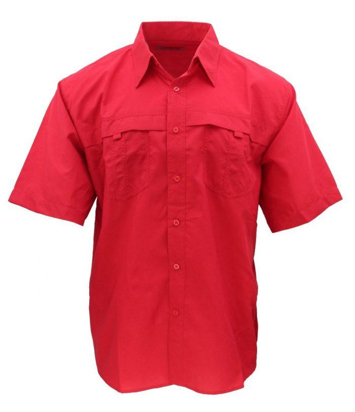 camisa estilo columbia roja