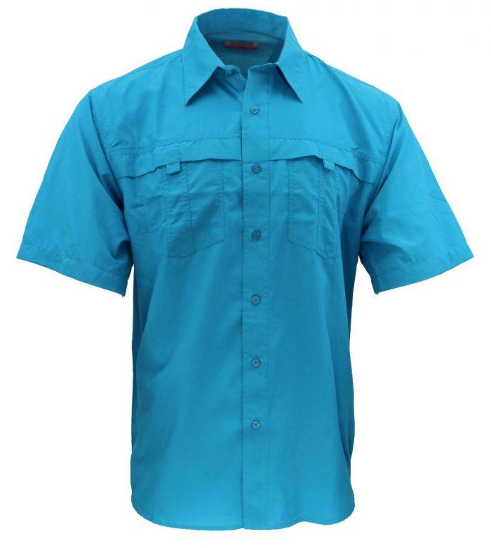 Camisa estilo columbia turqueza