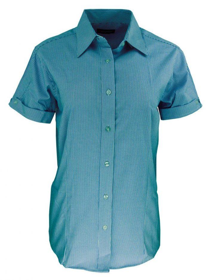 Camisa de raya para dama color verde esmeralda