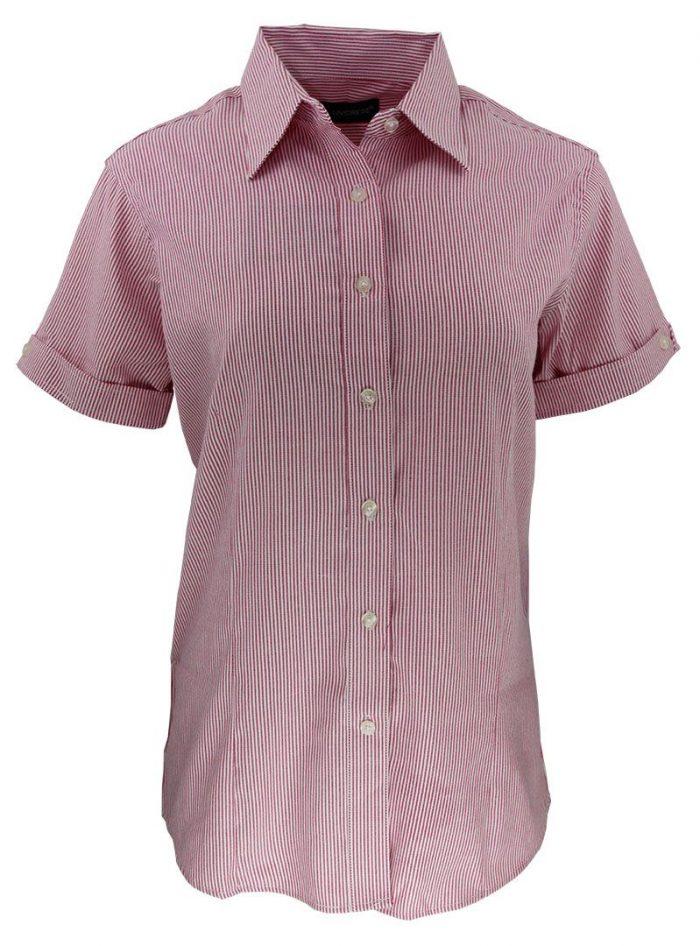 Camisa de raya para dama color fucsia