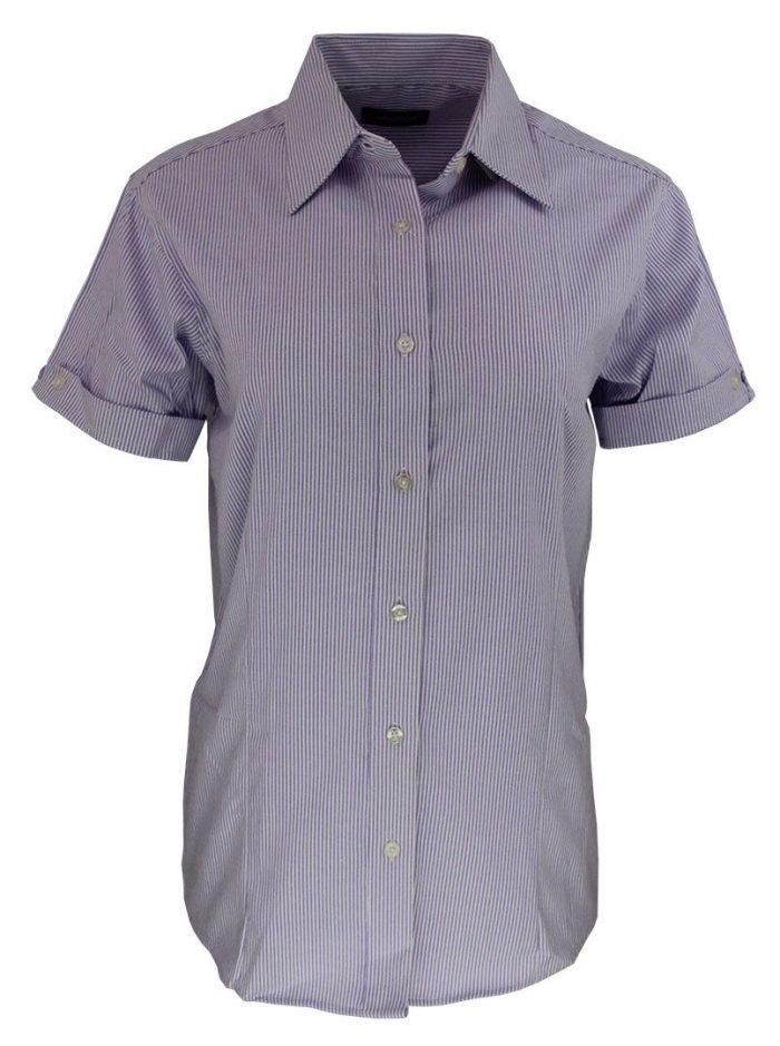 Camisa de raya para dama color purpura