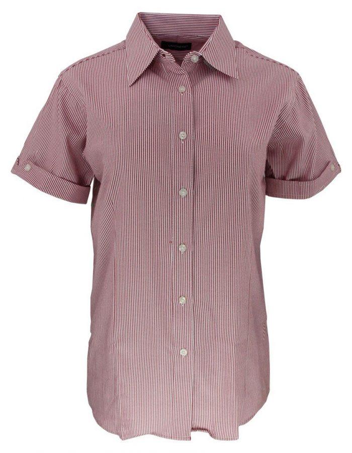 Camisa de raya para dama color rojo