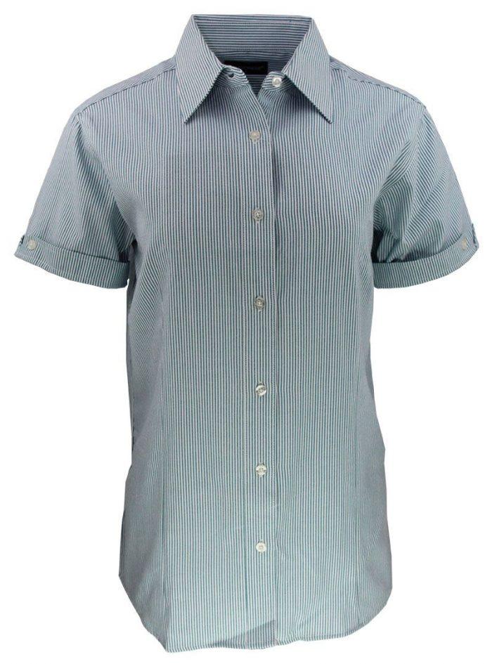 Camisa de raya para dama color turquesa