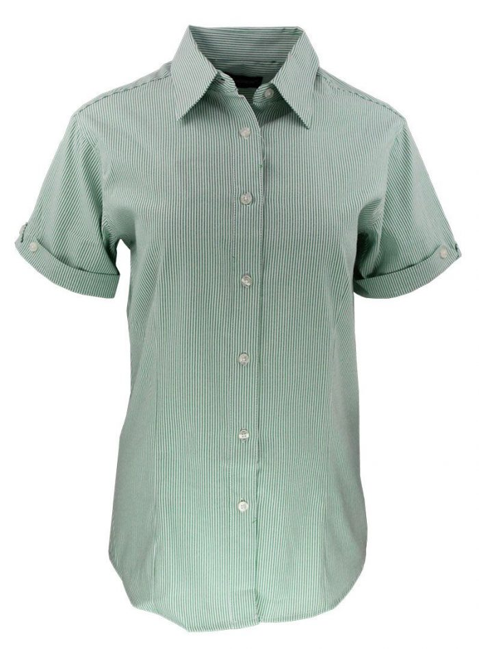 Camisa de raya para dama color verde