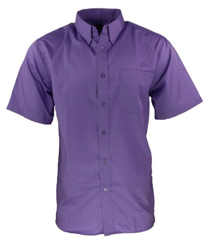 Camisa para caballero color purpura