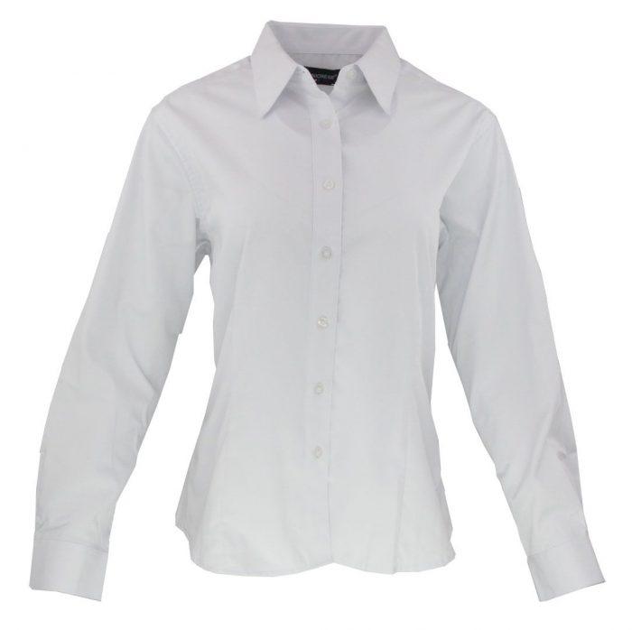 Camisa manga larga para dama en color blanco