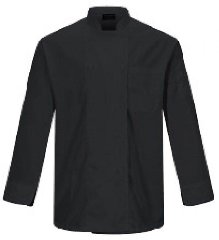Camisa para chef en color negro para caballero