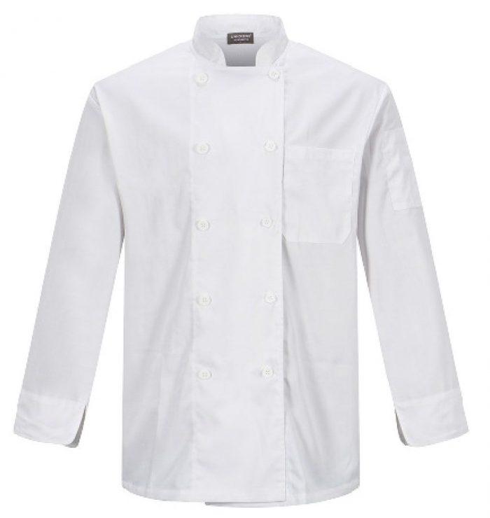 Camisa para chef en color blanco para caballero
