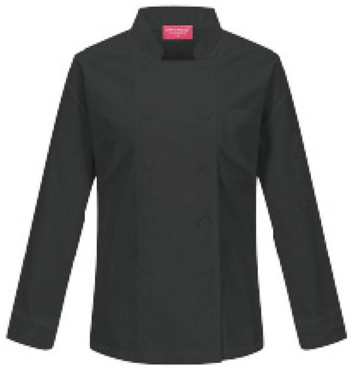 Camisa para chef de dama en color negro