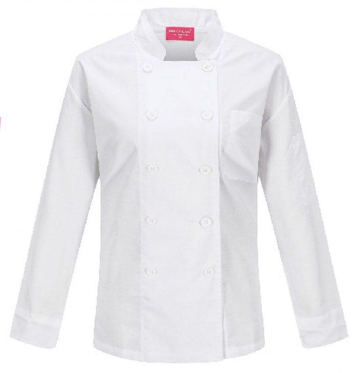 Camisa de Chef Dama en color blanco
