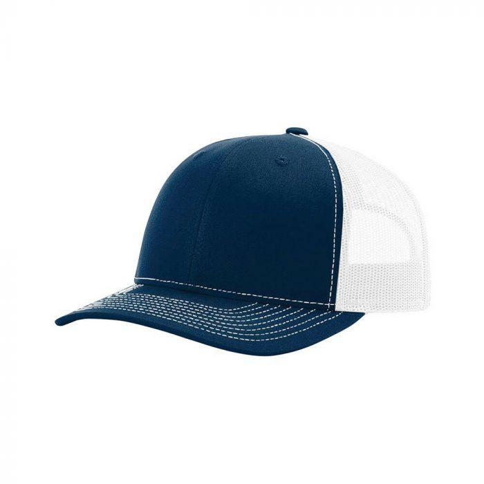 gorra richardson azul con blanco atras