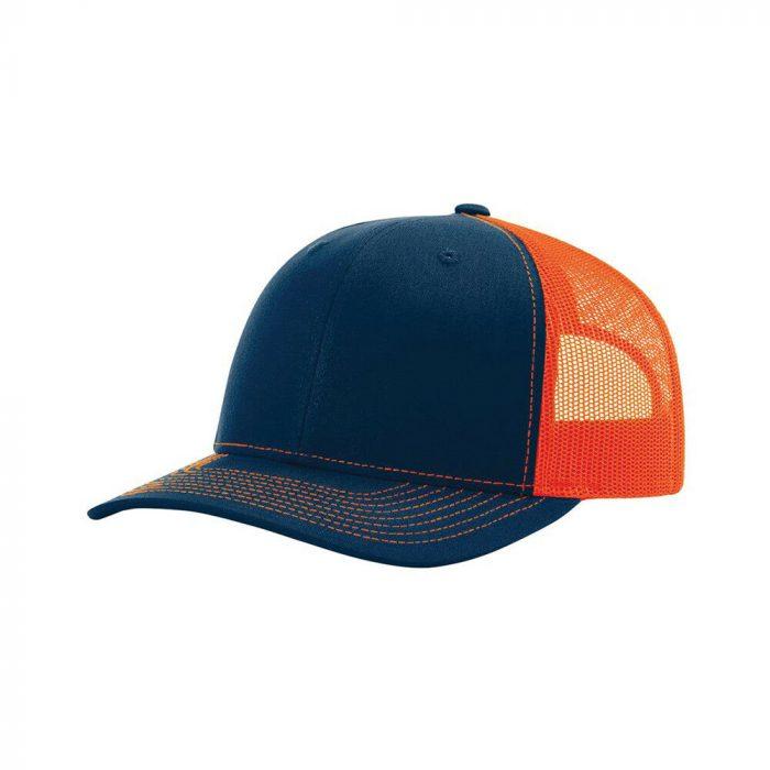 gorra richardson azul con naranja