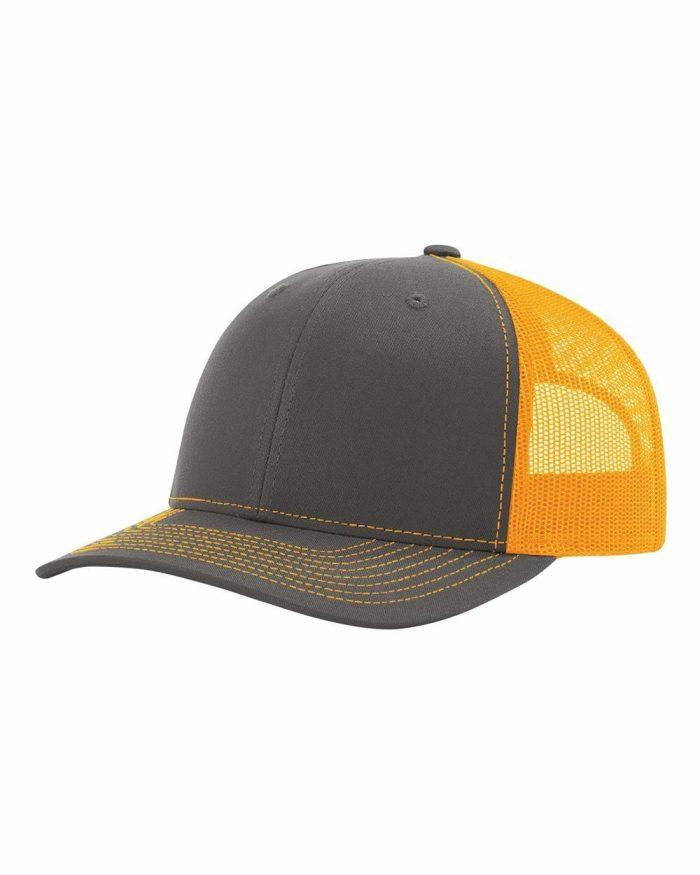 gorra richardson gris con amarillo