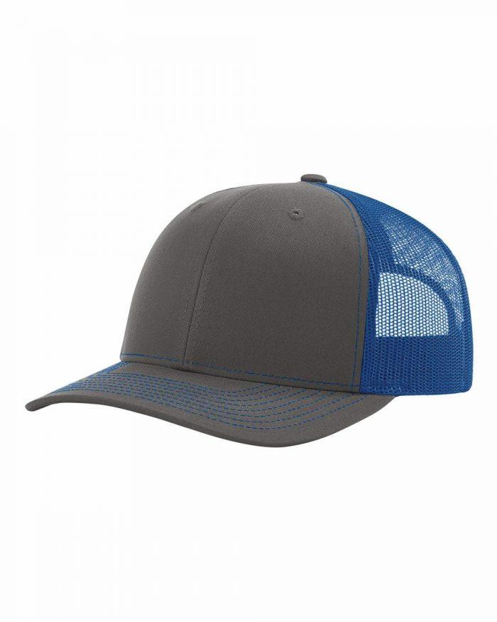 gorra richardson gris con azul