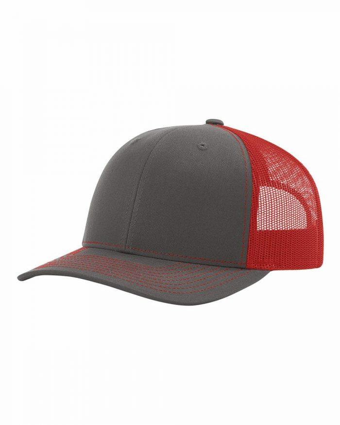 gorra richardson gris con rojo
