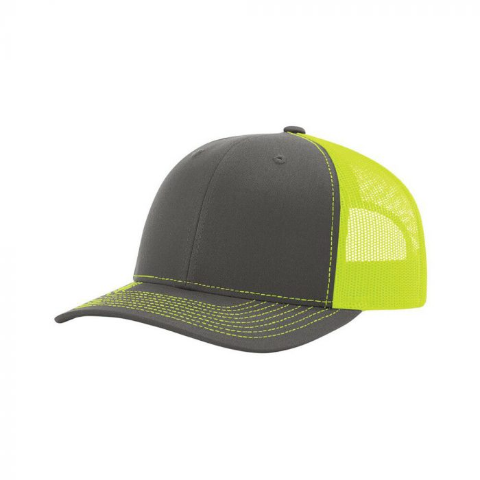 gorra richardson gris con verde