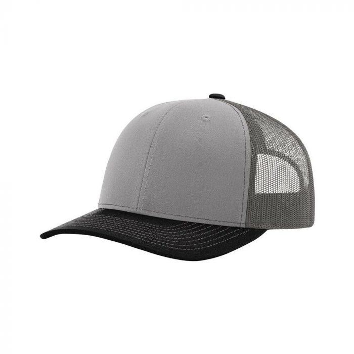 gorra richardson gris con visera negra