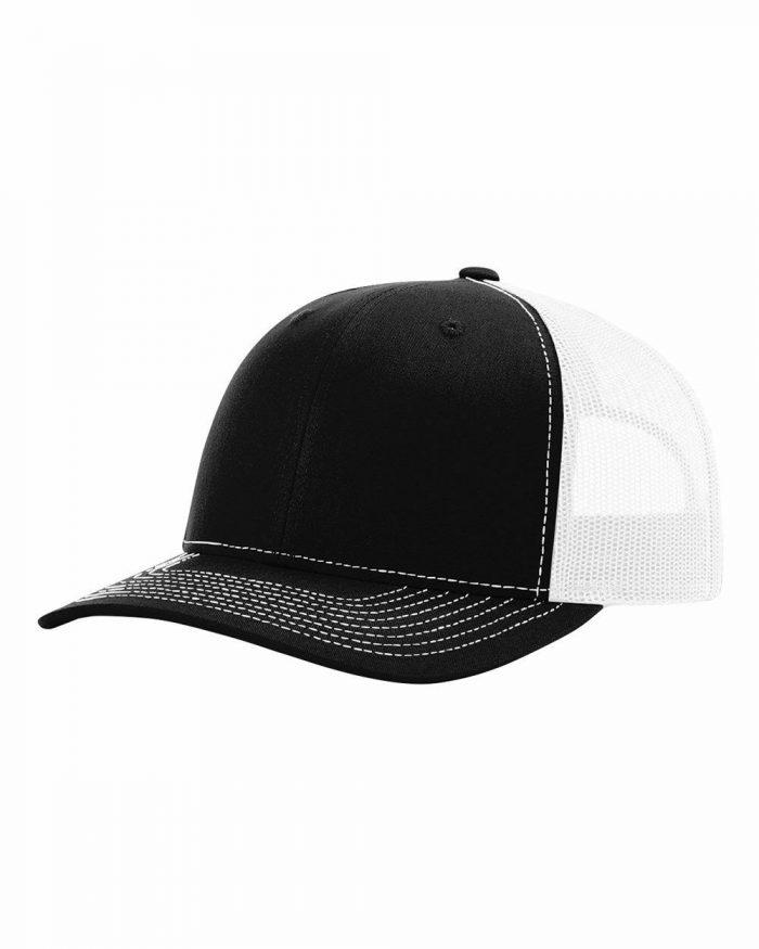 gorra richardson negra con blanca