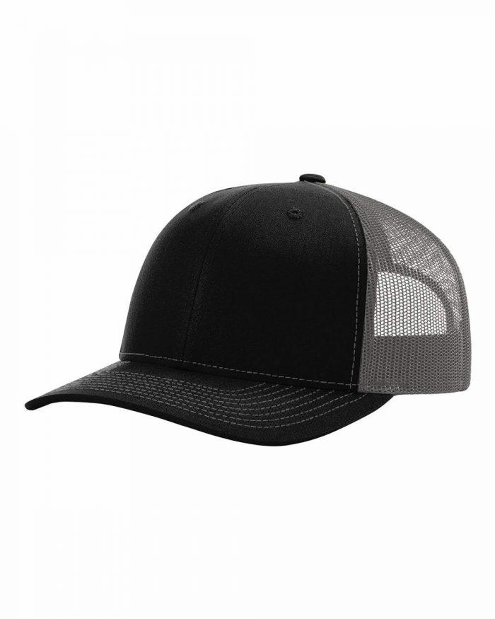 gorra richardson negra con gris