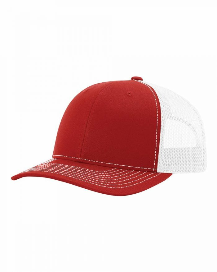 gorra richardson rojo con blanco