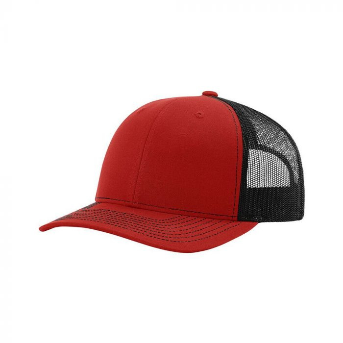 gorra richardson rojo con negro