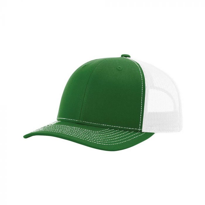 gorra richardson verde con blanco
