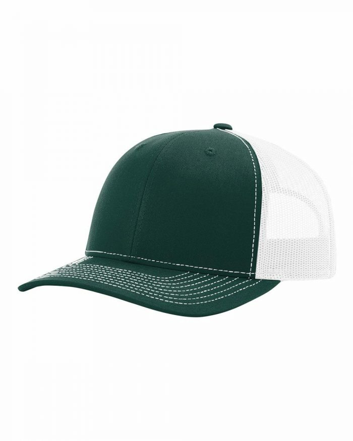 gorra richardson verde olvida con blanco