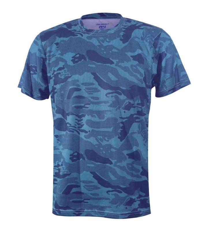 Sueter camuflaje en color azul