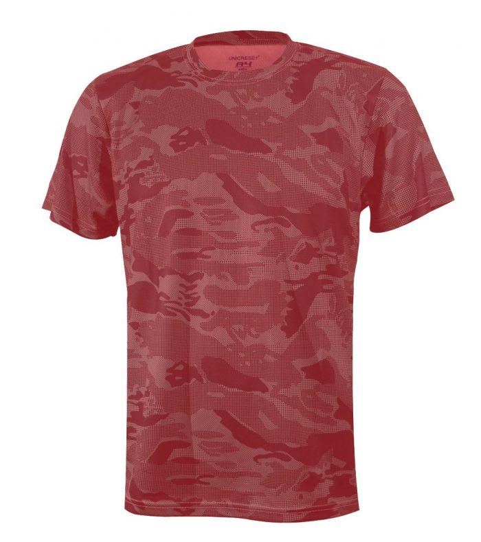 Sueter camuflaje en color rojo