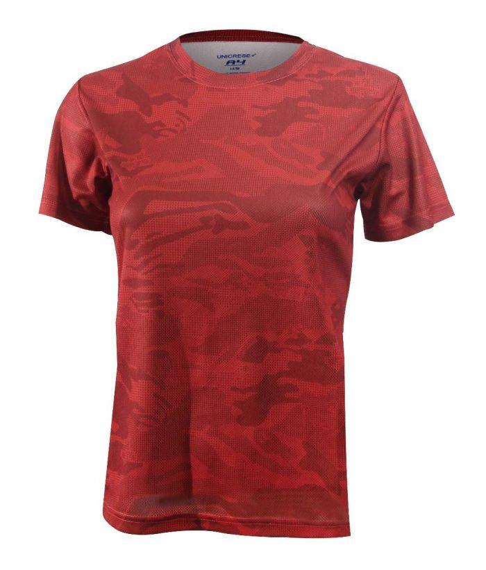 Sueter camouflage para dama en color rojo