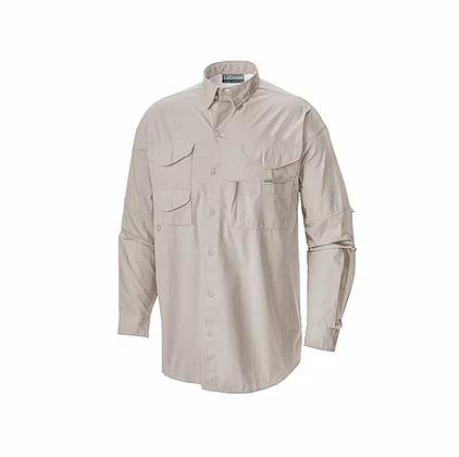 Camisa manga larga estilo columbia en color gris