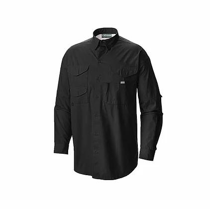 Camisa manga larga estilo columbia en color negro
