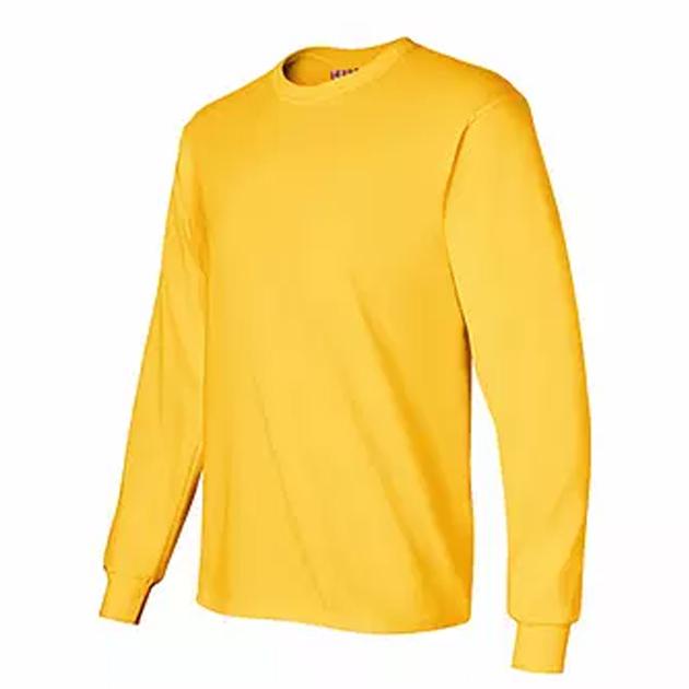 Sueter cuello redondo manga larga amarillo